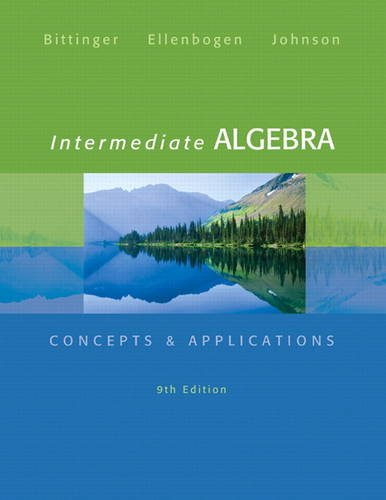 Intermediate Algebra Concepts and Applications 9th 2014 edition cover