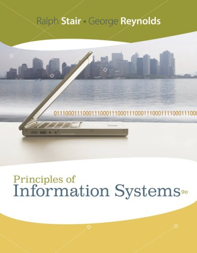 Principles of Information Systems  9th 2010 edition cover
