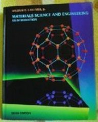 Materials Science and Engineering An Introduction 3rd 1994 9780471581284 Front Cover