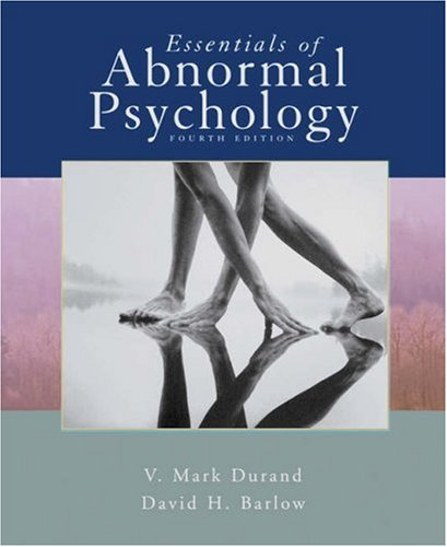 Essentials of Abnormal Psychology  4th 2006 9780495031284 Front Cover