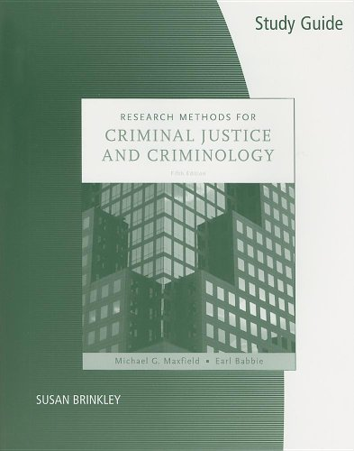 S. G. Research Methods F/Criminal Justice and Criminology  5th 2008 9780495099284 Front Cover