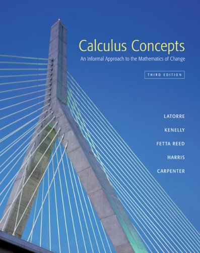 Calculus Concepts An Informal Approach to the Mathematics of Change 3rd 2005 edition cover