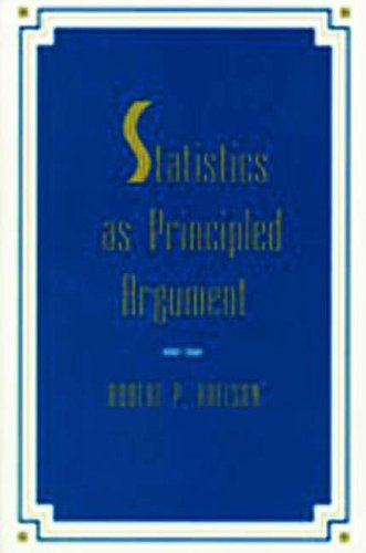 Statistics As Principled Argument   1995 edition cover
