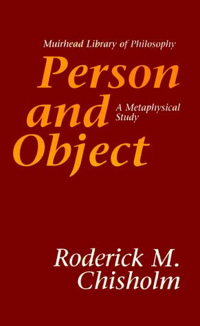 Person and Object A Metaphysical Study N/A edition cover