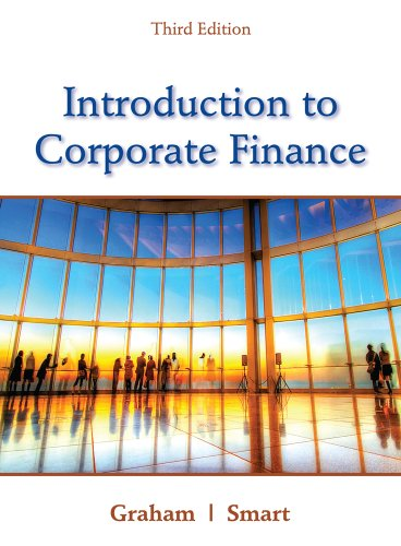 Introduction to Corporate Finance  3rd 2012 edition cover