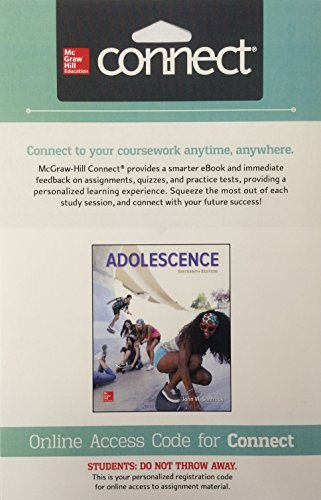 ADOLESCENCE-CONNECT ACCESS              N/A 9781259580284 Front Cover