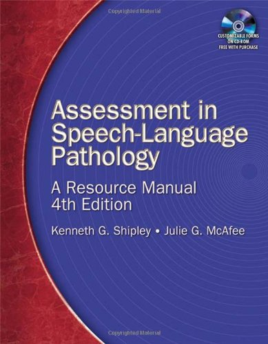 Assessment in Speech-Language Pathology A Resource Manual 4th 2009 edition cover