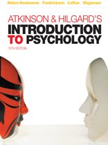 Atkinson and Hildegard's Introduction to Psychology  15th 2009 edition cover