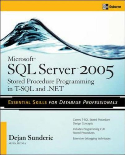 Microsoft SQL Server 2005 Stored Procedure Programming in T-SQL and .NET  3rd 2006 (Revised) edition cover
