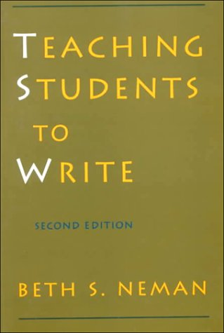 Teaching Students to Write  2nd 1995 (Revised) 9780195064285 Front Cover