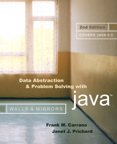 Data Abstraction and Problem Solving with Java  2nd 2006 (Revised) edition cover