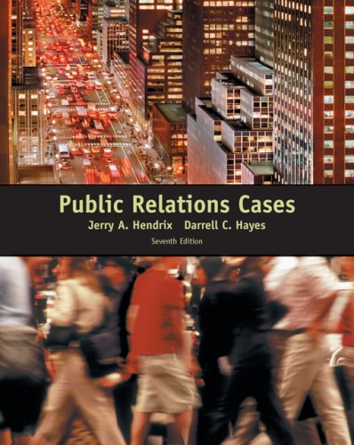 Public Relations Cases  7th 2007 9780495050285 Front Cover