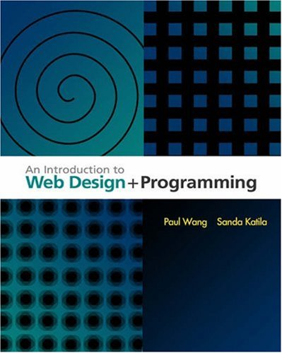 Introduction to Web Design and Programming   2004 9780534395285 Front Cover