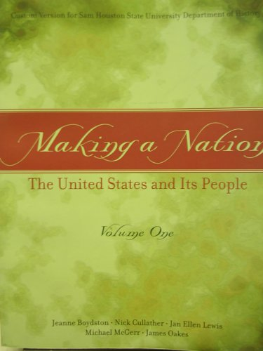 MAKING A NATION,VOLUME 1  >CUS 1st 9780536739285 Front Cover
