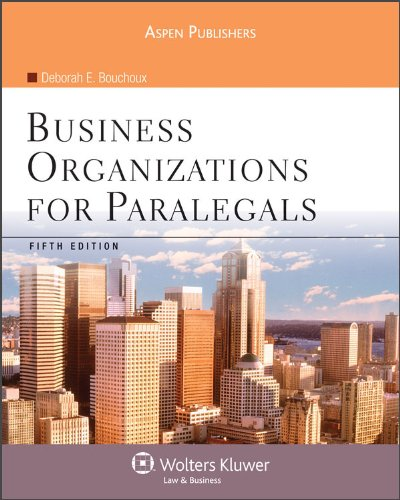 Business Organizations for Paralegals, Fifth Edition  5th 2009 (Revised) edition cover