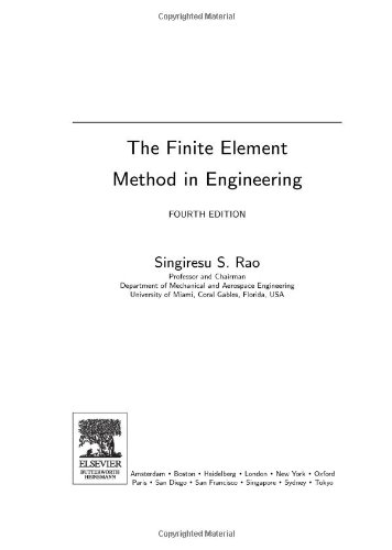 Finite Element Method in Engineering  4th 2005 (Revised) edition cover
