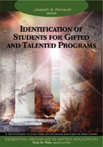 Identification of Students for Gifted and Talented Programs   2004 edition cover