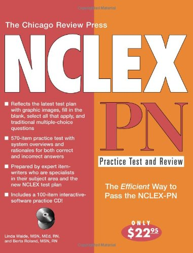 Chicago Review Press NCLEX-PN Practice Test and Review  3rd 2004 9781556525285 Front Cover