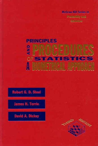 Principles and Procedures of Statistics A Biometrical Approach 3rd 1997 9780070610286 Front Cover