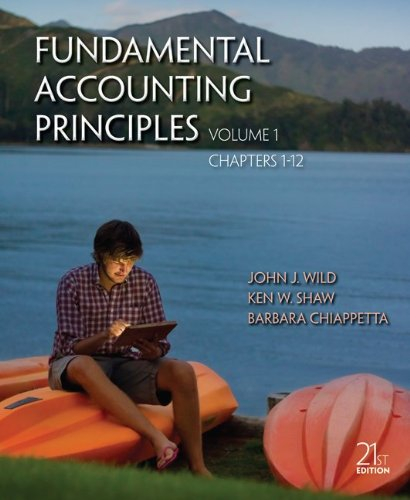 Fundamental Accounting Principles  21st 2013 edition cover
