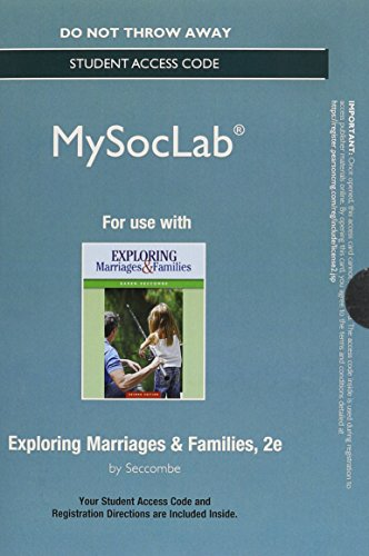 Exploring Marriages and Families  2nd 2015 (Student Manual, Study Guide, etc.) 9780133814286 Front Cover