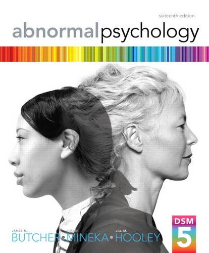 Abnormal Psychology  16th 2014 9780205944286 Front Cover