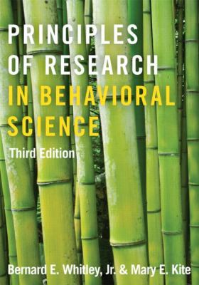 Principles of Research in Behavioral Science Third Edition 3rd 2013 (Revised) edition cover