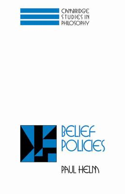 Belief Policies   1994 9780521460286 Front Cover