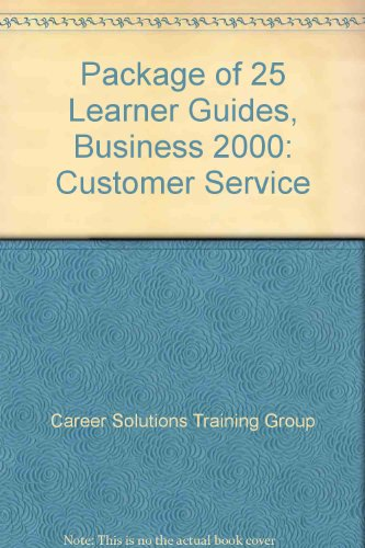 Business 2000 Customer Service  2002 9780538431286 Front Cover
