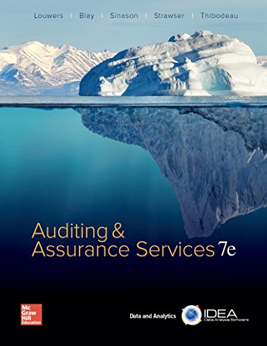 Auditing & Assurance Services:   2017 9781259573286 Front Cover