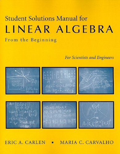 Linear Algebra Solution's Manual   2007 edition cover