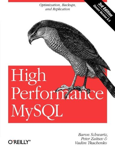 High Performance MySQL Optimization, Backups, and Replication 3rd 2012 edition cover