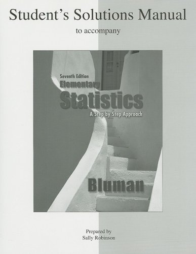 Elementary Statistics A Step by Step Approach 7th 2009 9780073331287 Front Cover