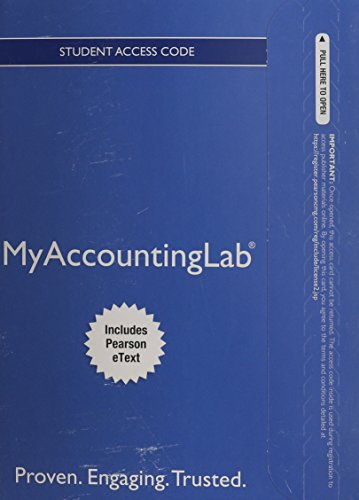 Myaccountinglab With Pearson Etext Access Card for Financial Accounting:   2014 9780133437287 Front Cover