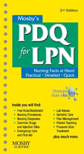 Mosby's PDQ for LPN  2nd 2008 edition cover