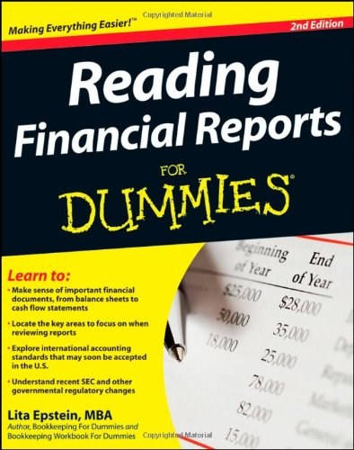 Reading Financial Reports for Dummies  2nd 2009 edition cover