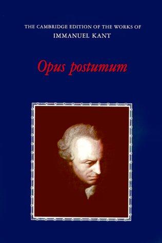 Opus Postumum   1995 9780521319287 Front Cover