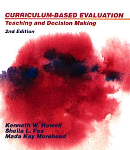 Curriculum-Based Education : Teaching and Decision Making 2nd 9780534164287 Front Cover