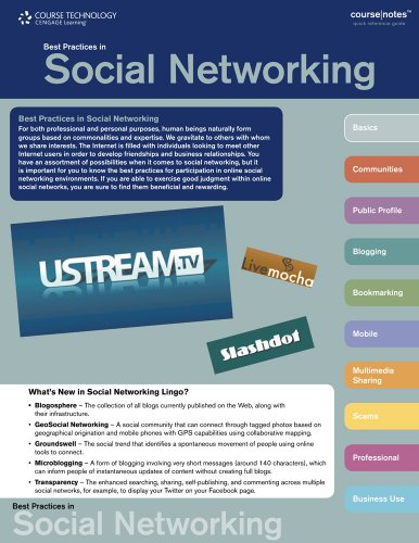 Best Practices in Social Networking CourseNotes   2010 9780538744287 Front Cover