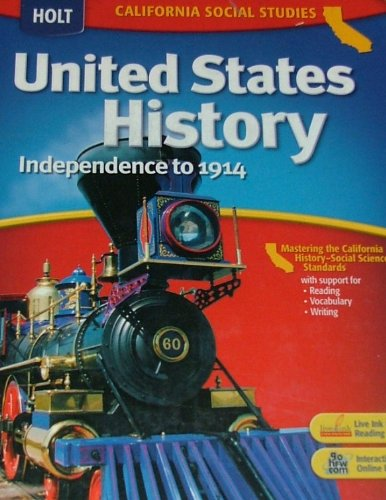 United States History Independence to 1914  2006 9780030412288 Front Cover