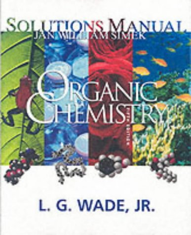ORGANIC CHEMISTRY-SOLN.MAN. 5th 2003 edition cover