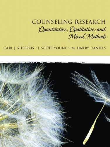 Counseling Research Quantitative, Qualitative, and Mixed Methods  2010 9780131757288 Front Cover