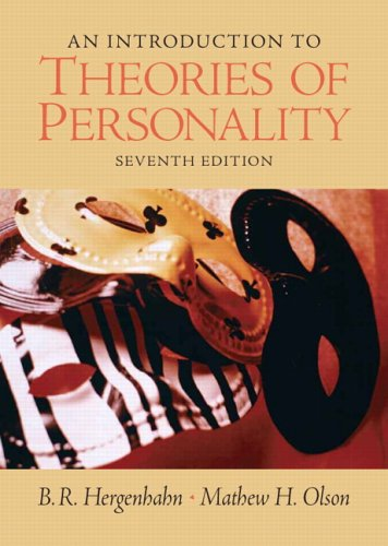 Introduction to Theories of Personality  7th 2007 (Revised) 9780131942288 Front Cover