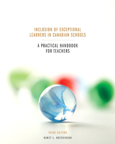 INCLUSION OF EXCEPTIONAL LEARNERS IN... N/A 9780135085288 Front Cover