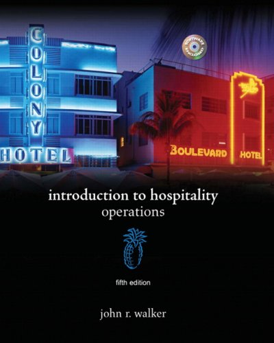 Introduction to Hospitality  5th 2009 edition cover