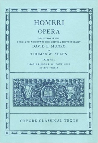 Homeri Opera  3rd 1999 (Revised) edition cover