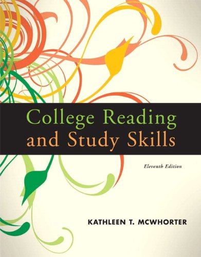 College Reading and Study Skills  11th 2010 9780205784288 Front Cover