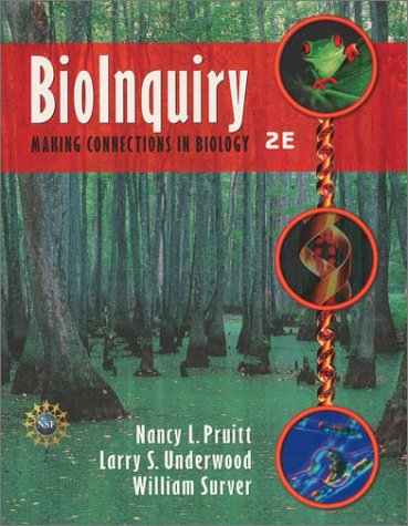 BioInquiry Making Connections in Biology 2nd 2003 9780471202288 Front Cover