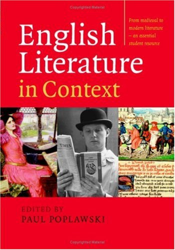 English Literature in Context   2008 9780521549288 Front Cover