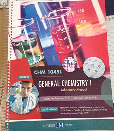 GENERAL CHEMISTRY I >CUSTOM<            N/A 9780738066288 Front Cover